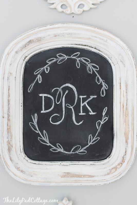 Monogram Chalkboard Art