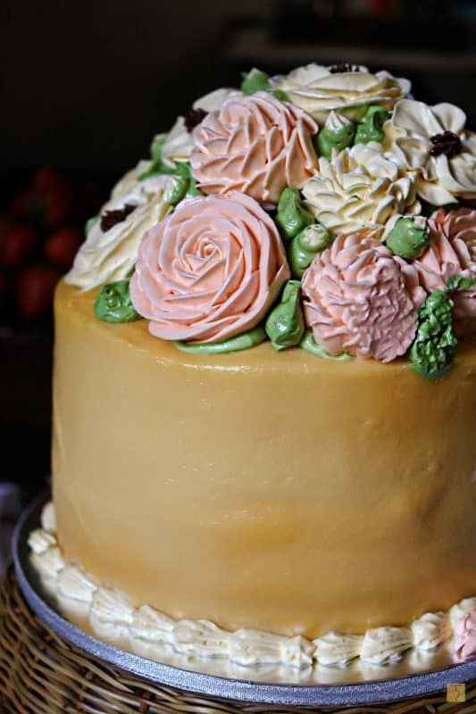 Heart's and Bells - Full Bloom Buttercream Cake