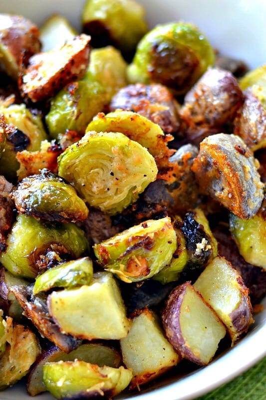 Recipe for Roasted Potatoes and Brussel Sprouts