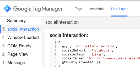 socialInteraction no Google Tag Manager