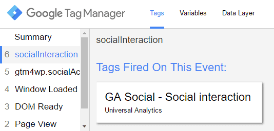 Etiqueta Window Loaded GTM socialInteraction