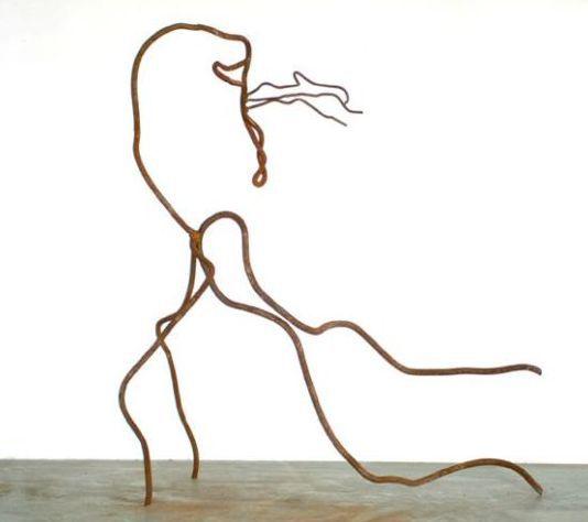 Stervend hert, sculptuur van Anneke Hermkens