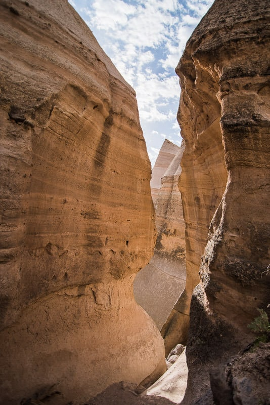 Slot Canyon hike at Kasha-Katuwe Tent Rocks