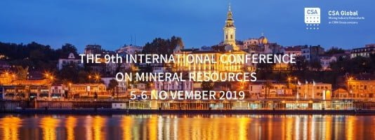 9th International Mineral Resources Conference in Serbia 2019