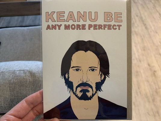 Funny Keanu Thinking of You Card