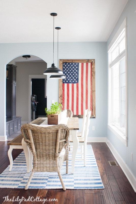 Framed Flag Decor