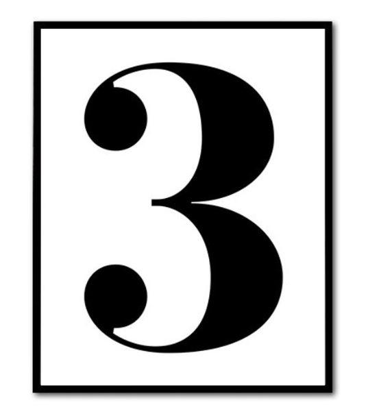 3 dowolne printy