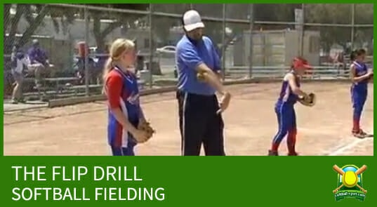 softball fielding the flip drill