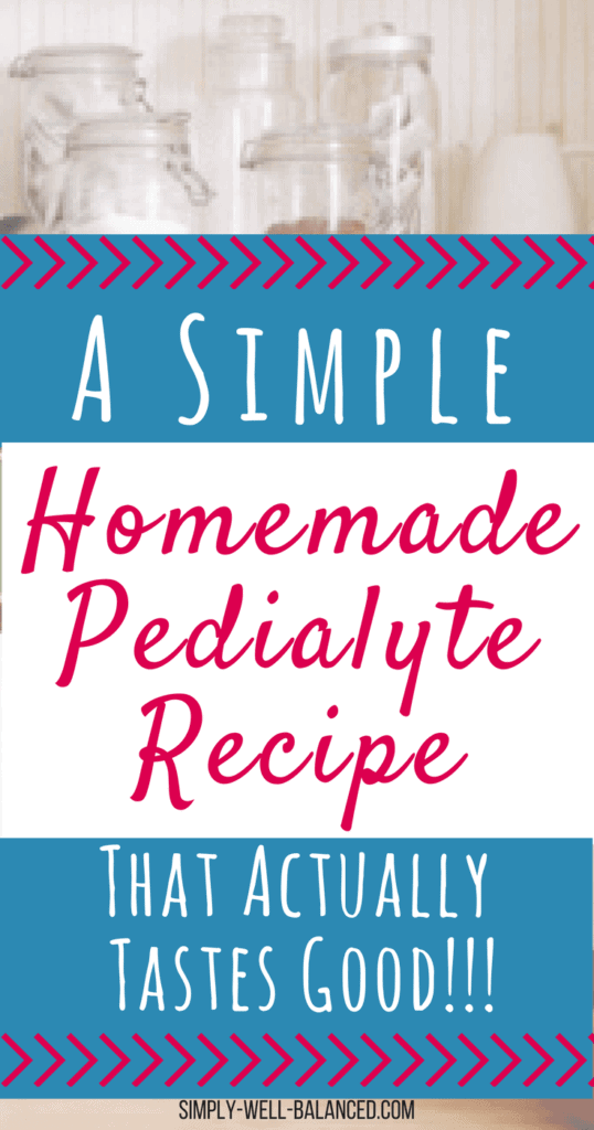 The perfect DIY homemade pedialyte recipe to help your child stay hydrated when they are sick. A simple electrolyte drink mix you can make at home for rehydration.