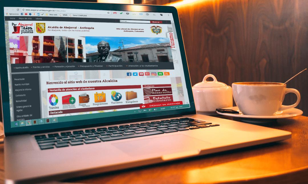 Interfaz gráfica del sitio web: Alcaldía de Abejorral