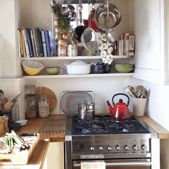 Rustic small kitchen alcove ideas