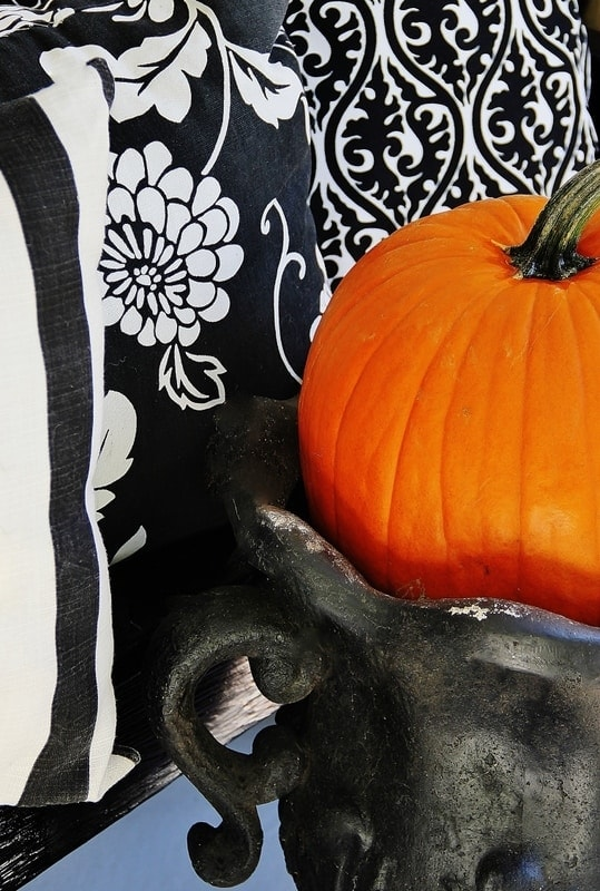 Here's a detail picture of the fall porch decor