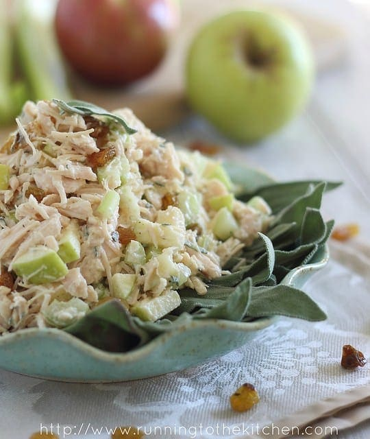 Honey chicken salad with apples