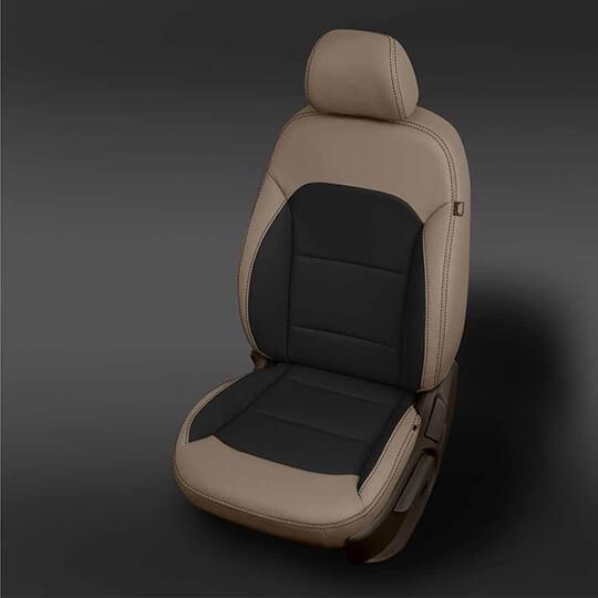 Hyundai Elantra Tan and Black Leather Seat