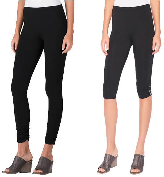 wear leggings to hide your belly | 40plusstyle.com