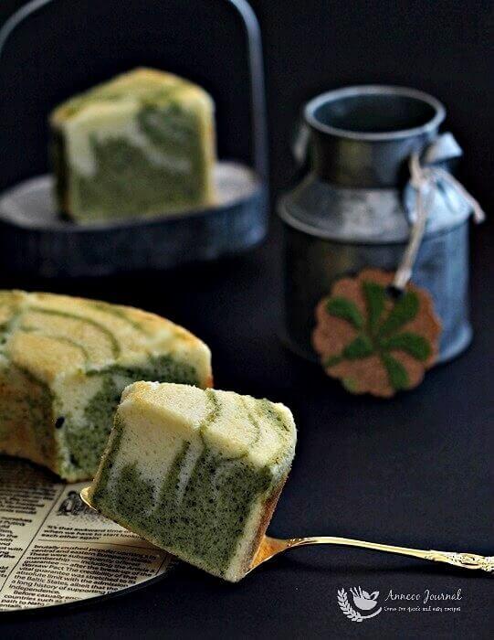 matcha marble cake