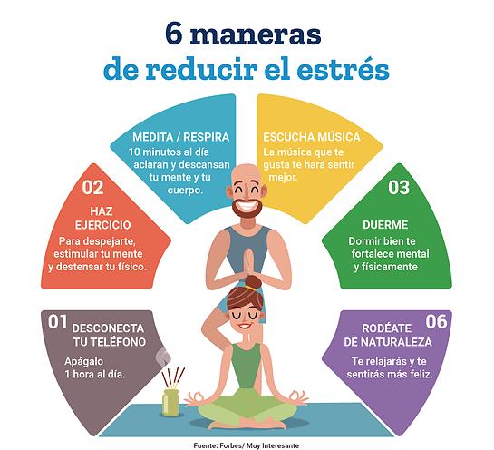 6 maneras de reducir el estrés