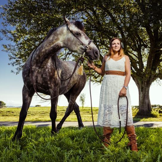 Fotoraf Kempten Outdoorfotografie Pferde Julia