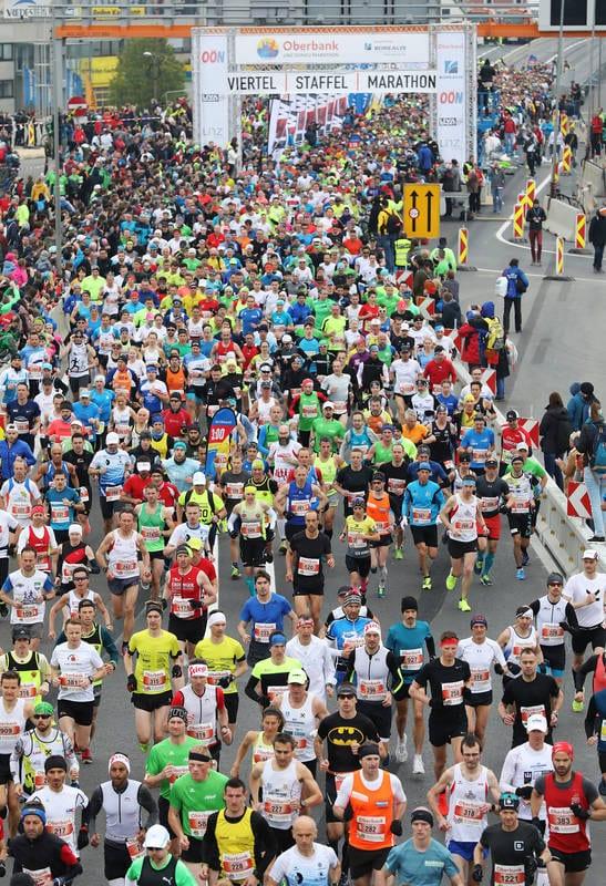Start des Linz Marathons