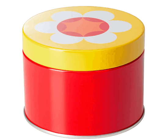 Decorative tin with lid
