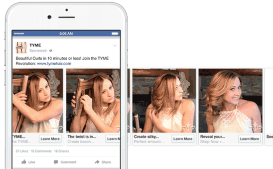 effective ways to use Facebook's carousel ads