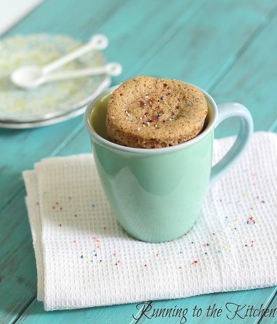 Cake batter mug cake