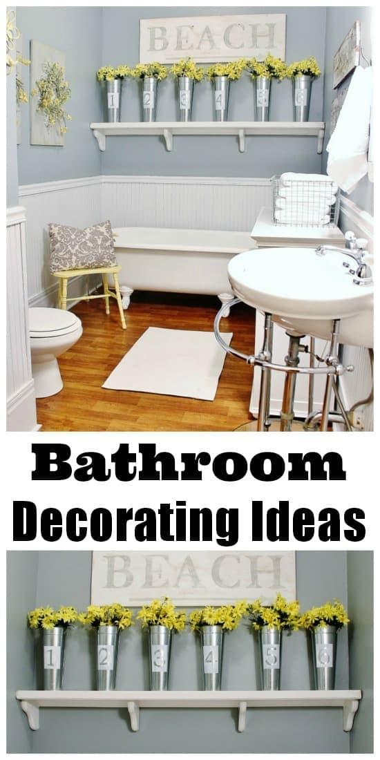 Farmhouse decorating ideas for your bathroom.