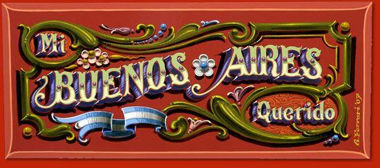 Arte Cultura Argentina - Fileteado porteño - Mi Buenos Aires Querido