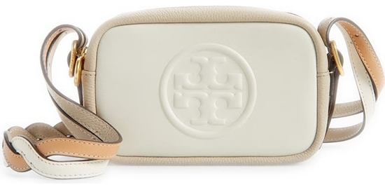 Tory Burch Perry Bombé Leather Mini Crossbody Bag | 40plusstyle.com