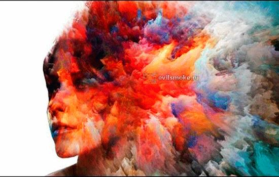 Разноцветное лицо