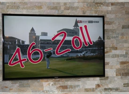 Ferienhaus Fleesensee TV Flat-Bildschirm
