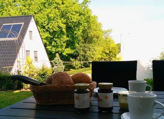 Ferienhaus Terrasse Frühstück