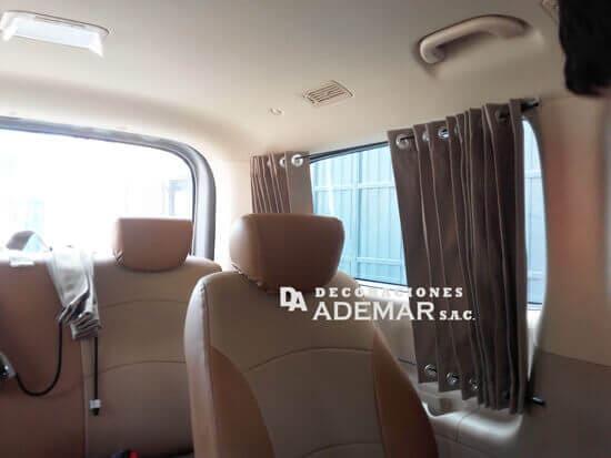 cortinas para minivan