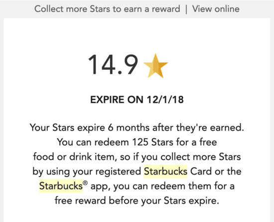 An Example of Points and Gamification from Starbucks