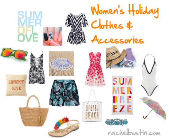 women's holiday clothes and accessories