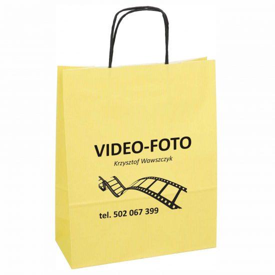 Torby papierowe z nadrukiem zolta video