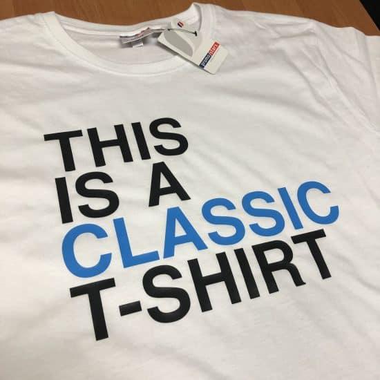 koszulki z nadrukiem classic tshirt niebieski