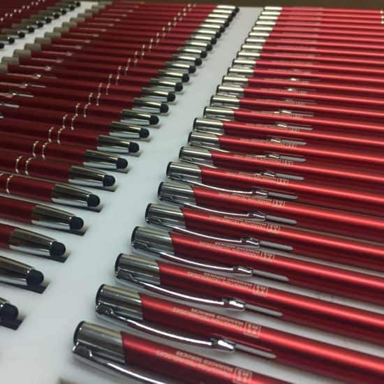 dlugopisy z grawerem czerwone TTMS