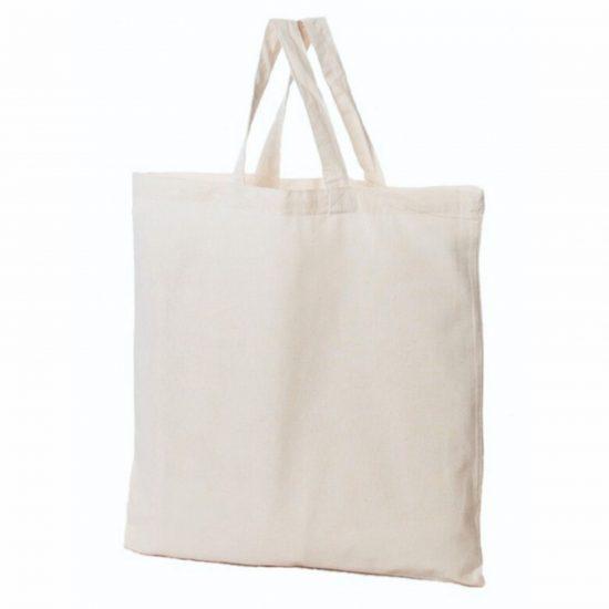 torba bawelniana 160 gr z nadrukiem krotkie ucho