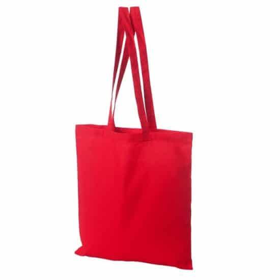 torba bawelniana czerwona