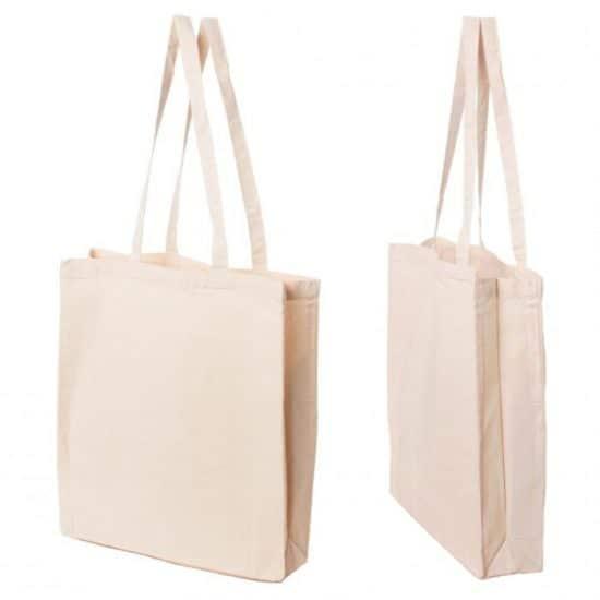 torba plocienna ecru 200gr z bokami i dnem