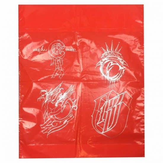 torby foliowe z nadrukiem czerwona criminal grafika