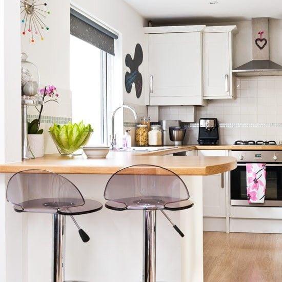 маленькие угловые барные стойки для кухни