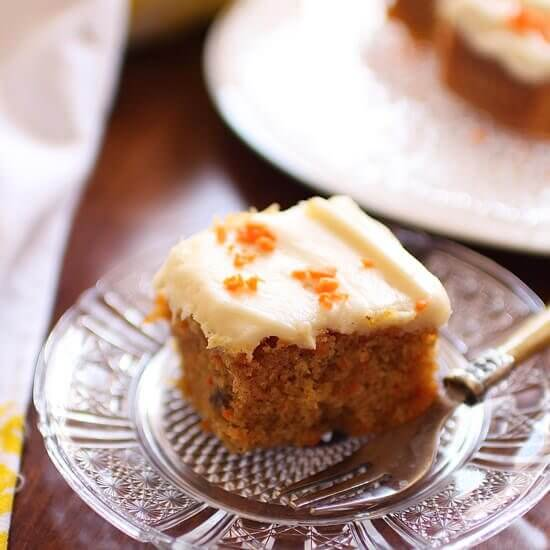 Carrot Cake For One | onedishkitchen.com