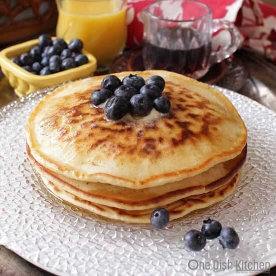 Pancakes For One | onedishkitchen.com