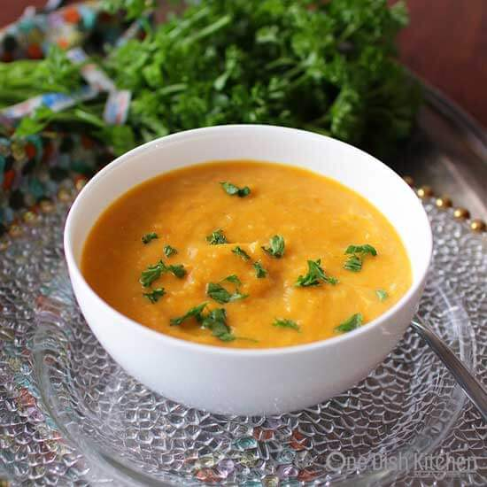 Curried Butternut Squash Soup For One | One Dish Kitchen