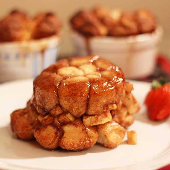 Apple Fritter Monkey Bread | The Best Apple Recipes Roundup | One Dish Kitchen