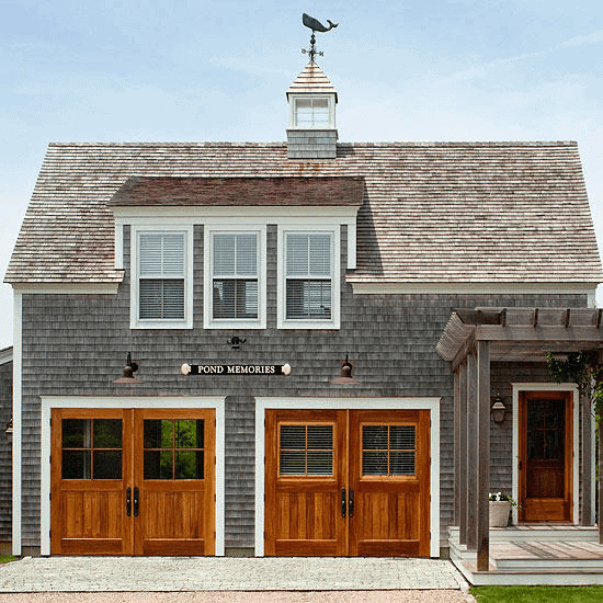 Detached Garage with Cape Cod Inspiration