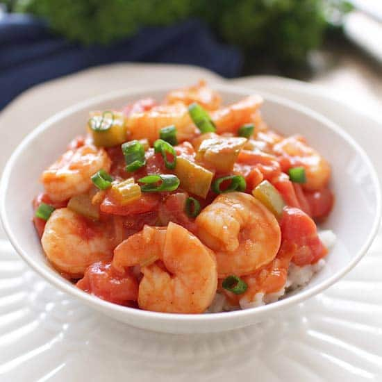 Shrimp Creole For One | One Dish Kitchen