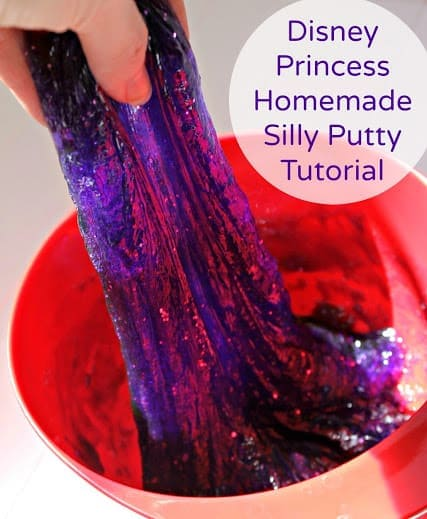 Views From the 'Ville Glittery Homemade Silly Putty Tutorial https://whynotmom.comviewsfromtheville.com/2015/03/15/glittery-homemade-silly-putty-tutorial/